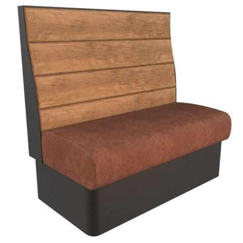 Kansas Plank Banquette/Booth Seating - High Back